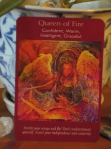 Queen of Fire Angel Tarot