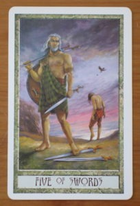 druidcraft tarot five of swords