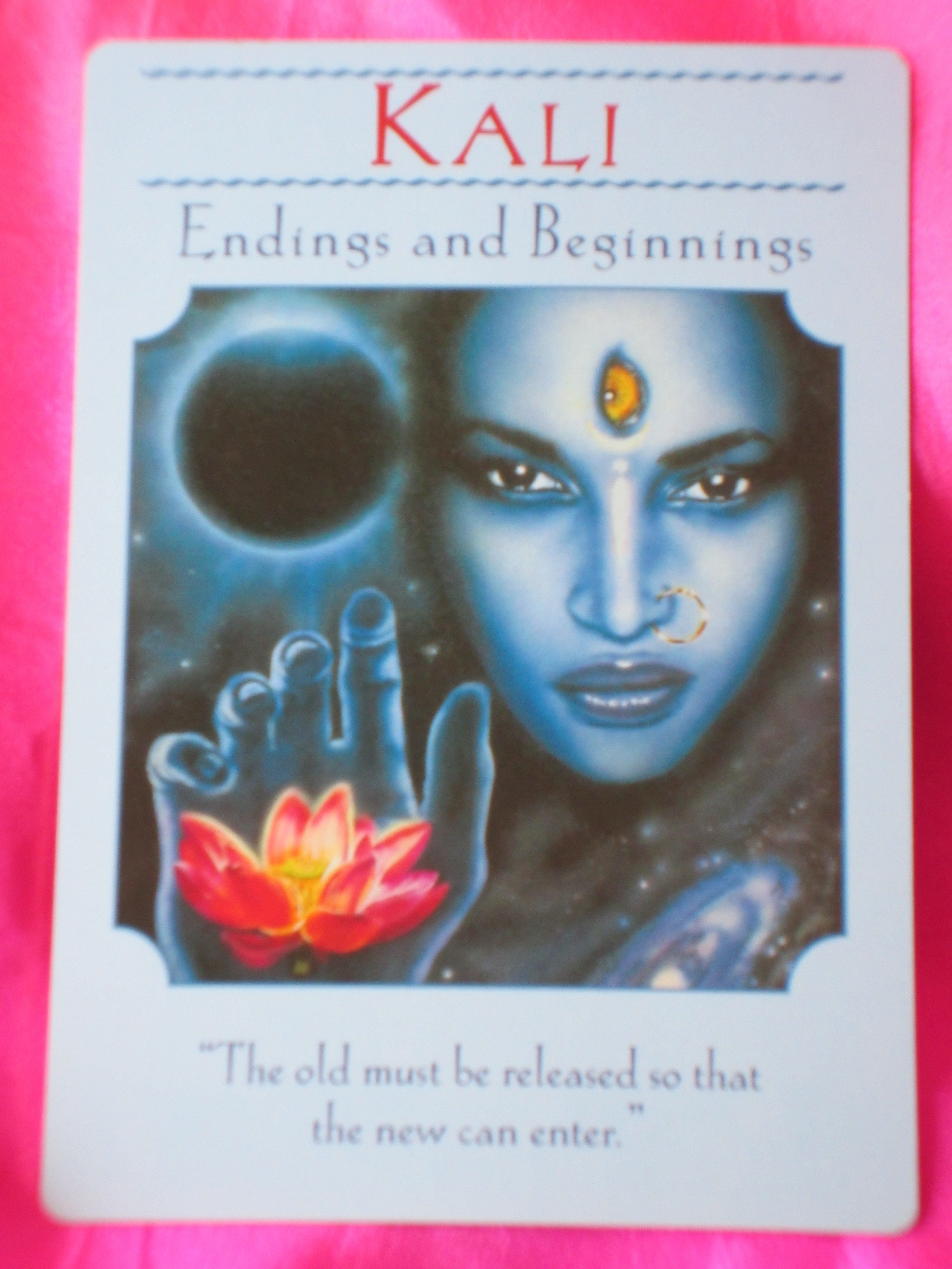 Goddess Guidance Oracle Card For Tuesday ~ Kali