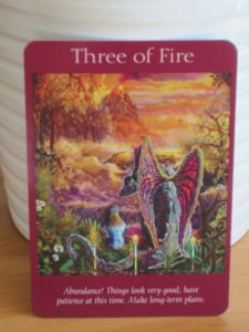 three of fire angel tarot cards