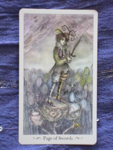 page of swords paulina tarot