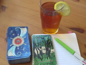 tarot and iced tea